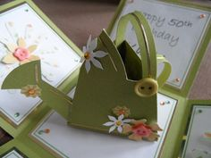 3d watering can card - The Supermums Craft Fair