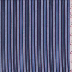 Blue Stripe Shirting - 32970 - | Discount By The Yard | Fashion Fabrics