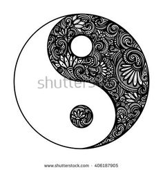 Image result for geometric yin and yang tattoo