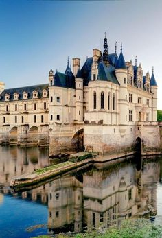 Fairy tale-like Château de Chenonceau in the Loire Valley, France