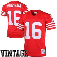 8a56c691f7492e Mens Mitchell   Ness Joe Montana Scarlet (Red) San Francisco 49ers Retired  Player Vintage