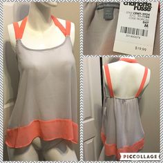 ☀️ Sheer Tank Top Measurements are in photos. Brand New with Tags. no flaws. A2  Ask about a bundle discount on all items that are not ⏰Flash Sale items! I ship everyday. I always package safely. If I run out of boxes, I will use priority bags over a polymailer bag. If you prefer to only receive this great item in a box, please let me know! Thanks! Charlotte Russe Tops Tank Tops