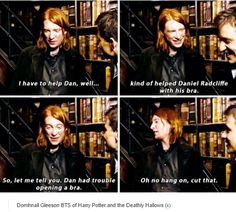 Harry Potter - Domhnall Gleeson - behind the scenes