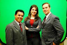 Julinho Ribeiro, Joyce Maíra e Adezílio Andrades, apresentadores Vale Shop TV.