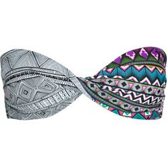 HURLEY Tribal Fusion Twist Bandeau 'kini top