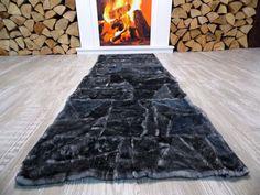 Echter Lammfellteppich T63 Läufer Kamin Schaffell Lammfellläufer Bettvorleger in Möbel & Wohnen, Teppiche & Teppichböden, Teppiche | eBay