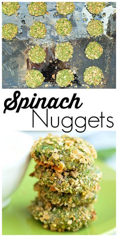 These homemade spinach nuggets are perfect for toddlers, kids, or adults! They are totally addicting dipped in ranch dressing.  This is a great way to eat more greens!