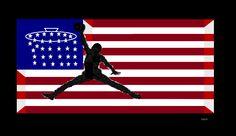 American,basketball, U.S.A, 3D, HD, HIGH definition, FLAG.