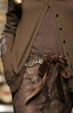Valentino <3 Halston once said that brown is the chicest color.