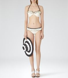 Holiday Wardrobe: Reiss Atalanta Women's Cream/black Bandeau Bikini Top
