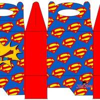 Superman: Caja para Lunch, para Imprimir Gratis.