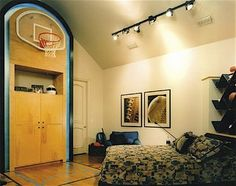 1000 images about basketball hoop in room on pinterest for Basketball hoop for kids room