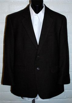 Harris Tweed Sport Coat 46 Reg Wool 2 Button Notched Lapel Single ...