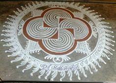 Indumathy Rangoli Ideas, Rangoli Designs Diwali, Kolam Rangoli, Kolam Designs, Mehandi Designs, Alpona Design, Diy Diwali Decorations, Padi Kolam, Latest Rangoli