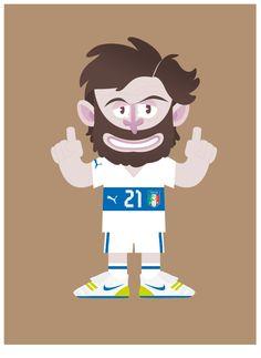 World Cup - Football stars by Matteo Cuccato, via Behance