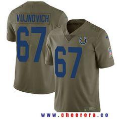 Men's Indianapolis Colts #67 Jeremy Vujnovich Olive 2017 Salute To Service Stitched NFL Nike Limited Jersey