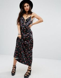 MOTEL ATHUR MAXI CAMI OVERLAY SLIP DRESS IN FLORAL PRINT #fashion #stylish #newtrend #shoptagr