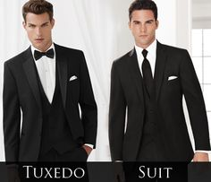 Black 'Essential' Tuxedo vs Black Ceremonia Suit