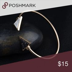 Beautiful Bracelet (nwt) Gold plated with faux marble. Brand new in package Jewelry Bracelets