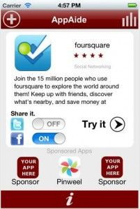 Discovery App AppAide Recommends Apps Based on Use, Not Downloads Four Square, Discovery, Saving Money, Apps, Base, Psychics, Save My Money, App, Money Savers