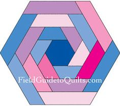 Patterned hexagonal blocks as whole-quilt mockups
