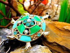 Fancy Turtle Badge Holder  Retractable by BadgeAlleybyGerAnne