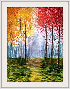Fall decor, fall painting