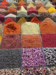 The spice market in Istanbul.