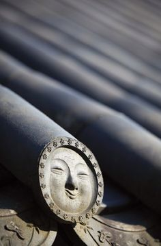 Smiling roof tiles of Hwaeomsa Temple in South Korea. I want these on my little dream house.