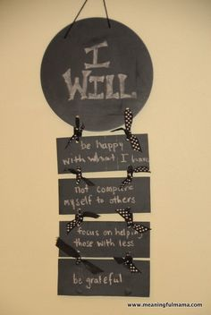 """""""I Will"""" Statements for Contentment - Character Development"""