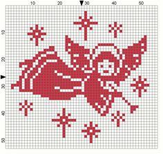 Cross Stitch Christmas Ornaments, Xmas Cross Stitch, Cross Stitch Angels, Christmas Embroidery, Christmas Knitting, Christmas Cross, Christmas Angels, Cross Stitching, Cross Stitch Embroidery