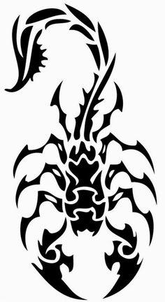 Classic Tribal Scorpion Tattoo Stencil