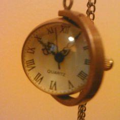 Steam punk antique watch necklace