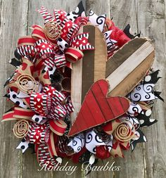 A personal favorite from my Etsy shop https://www.etsy.com/listing/489828536/valentines-wreath-valentines-rustic