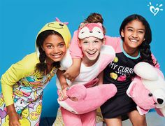 Cozy up to the sweetest sleep collection and accessories and pile on the fun! - April 13 2019 at Little Girl Outfits, Cute Girl Outfits, Little Girl Fashion, My Little Girl, Outfits For Teens, Justice Pjs, Justice Emoji, Justice Outfits, Justice Store