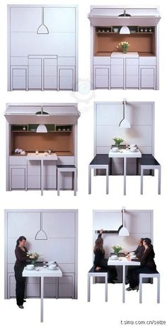 Small E Solutions Compact Kitchen Design Living