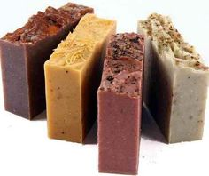 I. Natural beauty – homemade soaps--includes some recipes