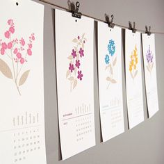 Love these letterpress calendar cards and want to frame the botanical prints after the year is done and gone.