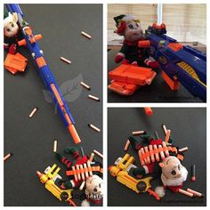 Elf Antics, Elf on the Shelf idea - The Elves Nerf Gun Battle!