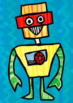 """Tinkerbot"" wall art for kids by Emily Green for Oopsy daisy, Fine Art for Kids $59"