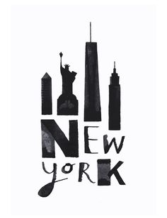 """""""Calligraphy Cities"""" – Great Black & White Drawings of Various Cities by Andrew Fox"""