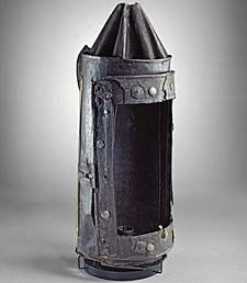 This sheet iron lantern, traditionally associated with Guy Fawkes, was given to the University of Oxford in 1641 as a memento of the Gunpowder Plot