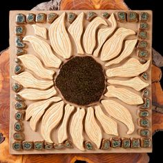 Another one of my Sunflower Plaques - this one with an incised center.