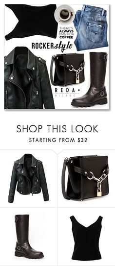 """Street Style-Rocker Style"" by jecakns ❤ liked on Polyvore featuring Alexander Wang and ADAM"