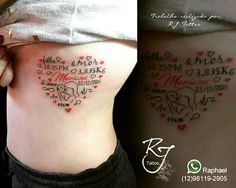 Tatuagem homenagem filha! https://www.instagram.com/rj.tattoo.sjc/