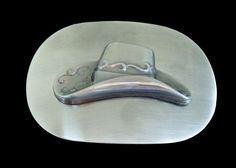 Image result for white cowboy hat on belt buckle