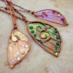 fairy and sidhe wings - pendants and earrings