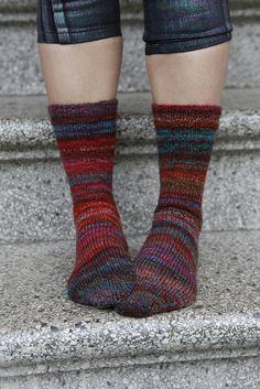 Handspun - Radical Librarian Socks by reeniebeanie