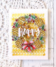 Hello crafty friends, happy Thursday! Today I want to share with you a couple cards that I've made using the SSS Summer themed products. For my first card, I made a fun shaker card with the S…