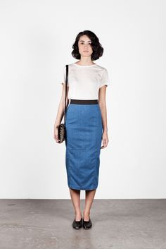 Image of Rachel Comey Denim Skirt
